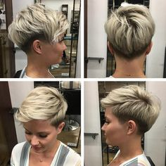 10 Good Looking korte kapsels die jij vast heel erg leuk gaat vinden! – Kapsels … 10 Good Looking short hairstyles that you are sure to love! Short Grey Hair, Short Blonde, Short Hair Cuts For Women, Funky Short Hair, Ash Blonde, Undercut Hairstyles, Pixie Hairstyles, Undercut Pixie, Female Hairstyles