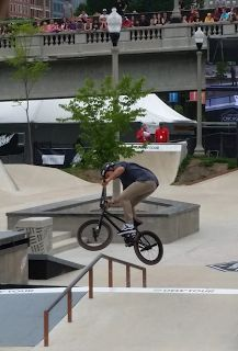 Brian Kachinsky at Dew Tour Chicago 2015 - BMX street best session  Checking Off the Bucket List at Dew Tour ~ Identically Unique