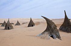 A tuareg village in the Ubari lakes area, Libya