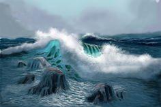 'wave' Digital painting