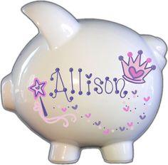 Hand-Painted Personalized Large Ceramic Princess Design Piggy Bank | Collectibles, Banks, Registers & Vending, Still, Piggy Banks | eBay!