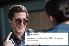 Jake always makes me laugh I can't help it he's just such a natural character Brooklyn Nine Nine, Brooklyn 9 9, Funny Memes, Hilarious, Jokes, Detective, Parks N Rec, Puns, Just In Case