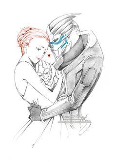 The Vakarian-Shepard familly by Scarlett-Aimpyh My new favorite Garrus-Femshep… Mass Effect Ships, Mass Effect Garrus, Mass Effect 3, Mass Effect Universe, Commander Shepard, My Fantasy World, Dragon Age, Game Art, Art Drawings