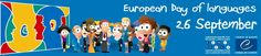 European Day of Languages 🗣- 26 September, 2016   Celebrate the European Day of Languages with us! At the initiative of the Council of Europe, Strasbourg, the European Day of Languages has been celebrated every year since 2001 on 26 September. http://www.coe.int/t/dg4/linguistic/JEL_en.asp