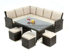 new for 2014 zebrano rattan have this amazing rattan garden corner sofa set that can be