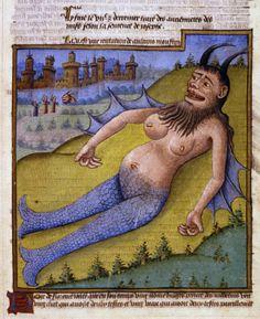 Poggio Bracciolini, added to a copy of Le Miroir du Monde, mid-15th century