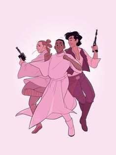 """saraduvall: """"We're here to rescue you! ☆ this is what happens when you read too many SpacePrince!Finn fics and then think about how cute Finn would look in Leia's clothes… """""""