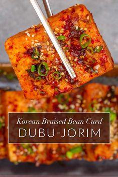 This easy vegan braised tofu recipes comes together in… Vegan Korean Tofu Recipe. This easy vegan braised tofu recipes comes together in no more than 30 minutes. Korean Tofu Recipes, Korean Dishes, Vegetarian Recipes, Cooking Recipes, Vegetarian Korean Food, Chinese Recipes, Recipes With Tofu, Healthy Tofu Recipes, Firm Tofu Recipes