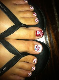 Baseball Toes.... if I do this to show support for Aaron can I skip the games when its snowing and freezing outside  =)