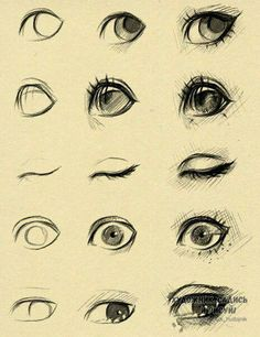 Eye Drawing Tutorial Sketches by ryky. Drawing Techniques, Drawing Tips, Drawing Reference, Drawing Sketches, Cool Drawings, Painting & Drawing, Drawing Drawing, Drawing Faces, Eye Sketch