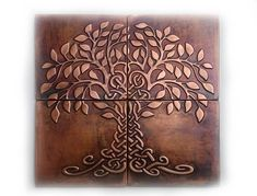 Tree of life, Set of tree of happiness, metal wall art, metal decorative tile… – Modern Copper Decor, Copper Art, Hammered Copper, Brown Home Decor, Metal Tree Wall Art, Celtic Designs, Decorative Tile, Wall Art Sets, Mild Soap
