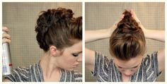 How to Style a Faux Hawk Updo
