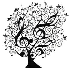 "Music Treble Clef Tree Cross Stitch Pattern***L@@K***YOUR FINISHED PATTERN SIZE. 280 Stitches x 280 Stitches 20.0"" X 20.0"" ON (14 COUNT) AIDA CLOTH. ~~ I SEND WORLD-WIDE ~~Free"