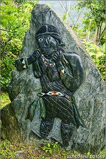 L01589,台北縣-烏來鄉-福山國小-原住民雕刻-石雕-口簧琴吹奏