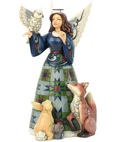 Jim Shore Collectible Figurine, Angel with Woodland Animals