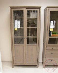 hemnes cabinet with panel glass door instructions