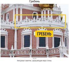 В архитектуре Нарышкинского барокко фигурные завитки, украшавшие верх стены, по форме перекликались с разорванным фронтоном.