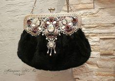 Vintage Clutch, Vintage Purses, Vintage Bags, Beaded Purses, Beaded Bags, Bag Pattern Free, Fur Bag, Embroidered Bag, Boho Bags