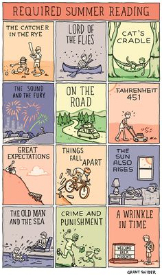 Required Summer Reading by Grant Snider