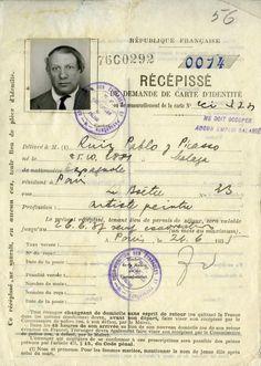 Demande de carte d'identité pour Picasso
