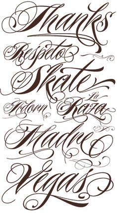 Tattoo Lettering Fonts Script