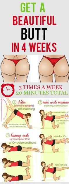 Get a Beautiful Butt in 4 Weeks Tighten your bum with this workout based on the new Core Fusion: Thighs and Glutes DVD from Elisabeth Halfpapp and Fred DeVito the duo behind the Exhale Core Fusion craze. The moves may look tame