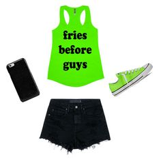 """""""Green and black"""" by paigerob13 on Polyvore featuring Alexander Wang, Converse and Maison Margiela"""