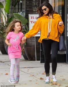 Jenna Dewan covered up her burgeoning baby bump on Sunday during a fun-filled mother-daughter date with her little girl, Everly, six, around Studio City in Los Angeles. Rainbow Nikes, Mother Daughter Dates, Baggy Hoodie, Jenna Dewan, Latest Celebrity News, Celebs, Celebrities, Hoodies, Sweatshirts