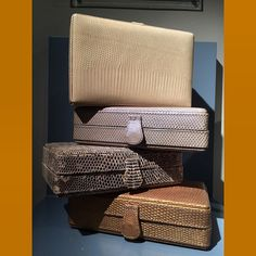 Chic neutral clutches for spring #vanessanoel #vanesanoelbags #cfda #skins #exoticskins #luxury #fashion #clutch #designer #style #springfashion