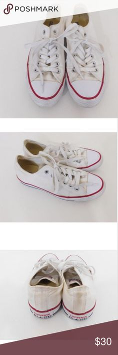CONVERSE All Star Chuck Taylor White Sneakers 6.5 CONVERSE Chuck Taylor All  Star Women s Size 6.5 394ca578f