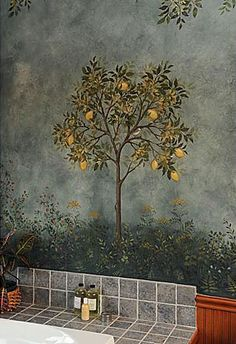 Large Citrus Tree  Stencil