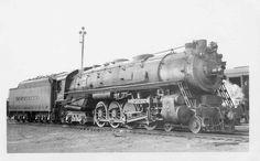 """Delaware, Lackawanna & Western #1609, a 4-8-4 """"Pocono"""" locomotive built by ALCO in March 1929."""