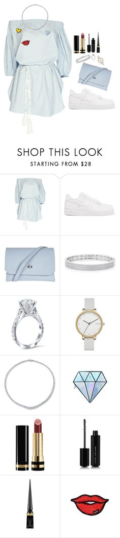 """""""Untitled #94"""" by lyaanfares ❤ liked on Polyvore featuring NIKE, Topshop, Anne Sisteron, Skagen, Unicorn Lashes, Gucci, Marc Jacobs and Christian Louboutin"""