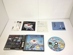 PlayStation Soft Jumping Flash! PS w/ obi & Hagaki JP PS1 Japan import NTSC-J