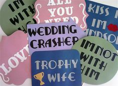 Photo Booth Props The ULTIMATE Wedding Sign Kit. $56.00, via Etsy.