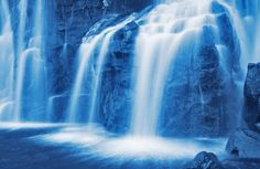 Relaxing Waterfall in Hawaii: Even though the image looks unreal, it is a real waterfall from Paradise.