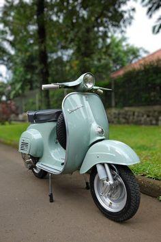 _Vespa 50 in light blue Vespa Px, Vespa Scooters, Moto Vespa, Vespa Motorcycle, Piaggio Vespa, Lambretta Scooter, Scooter 50cc, Vespa 50 Special, Vespa Vintage