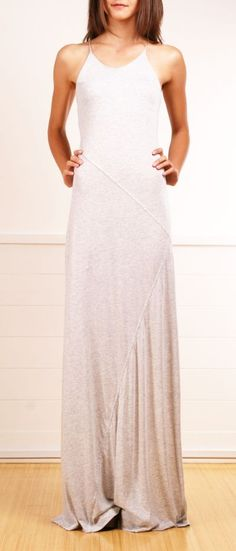 Love this plain and simple but dramatic column dress.