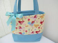Girl's tote bag. Book bag. Nursery/school bag.  by DottyCottons
