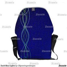 Dark Blue Lights Courier Bag