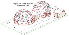Kwickset Konstruction Kits, Geodesic Dome Home Floor Plans Monolithic Dome Homes, Geodesic Dome Homes, Yurt Home, Underground Homes, Dome House, Courtyard House, Forest House, Earthship, Tiny House Design