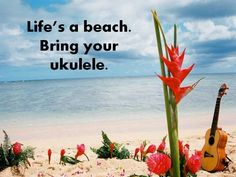 Life's a beach. Bring your Ukulele.