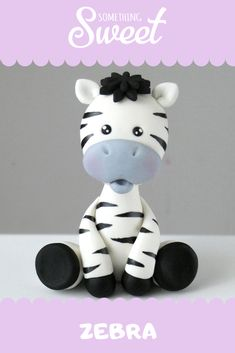 Zebra-Tortenaufleger - Cake toppers - Informations About Zebra-Tortenaufleger - Cake toppers - Pin You can ea Fondant Flower Cake, Fondant Cake Toppers, Fondant Baby, Fondant Cakes, Fondant Rose, Flower Cakes, Fondant Figures Tutorial, Cake Topper Tutorial, Fondant Animals Tutorial