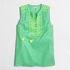 J.Crew+Factory+-+Factory+printed+embroidered+tank+top