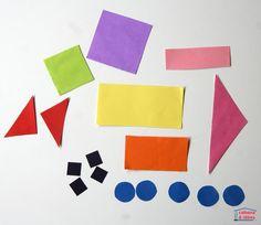 """Des véhicules en papier - puzzle """"tangram"""" - Cabane à idées Puzzles, Origami, Preschool Crafts, Triangles, Kids Rugs, Planes, Logos, House, Decor"""