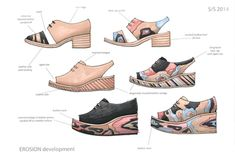 Showtime is the University of the Arts London online space specially designed for the degree show season. Shoe Sketches, London College Of Fashion, Leather Craft, Designer Shoes, Catwalk, Peep Toe, Footwear, Female, Nike