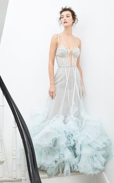 Get inspired and discover Marchesa trunkshow! Shop the latest Marchesa collection at Moda Operandi. Organza Dress, Satin Gown, Pageant Dresses, Evening Dresses, Tutu, Marchesa Gowns, Marchesa Wedding Dress, Bridal Gowns, Wedding Dresses
