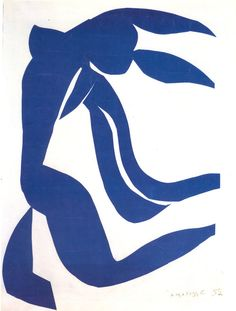 BLUE NUDE WITH HAIR IN THE WIND 108 x 80 cm. 1952 H Matisse