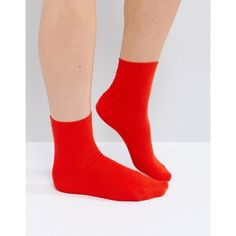 ASOS Plain Ankle Socks in Red (16 ILS) ❤ liked on Polyvore featuring intimates, hosiery, socks, red, ankle socks, short socks, asos, ankle high hosiery and ankle length socks