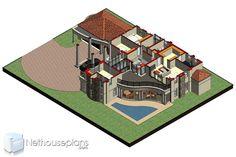 Double Story House Plans | 5 Bedroom Home Design | NethouseplansNethouseplans